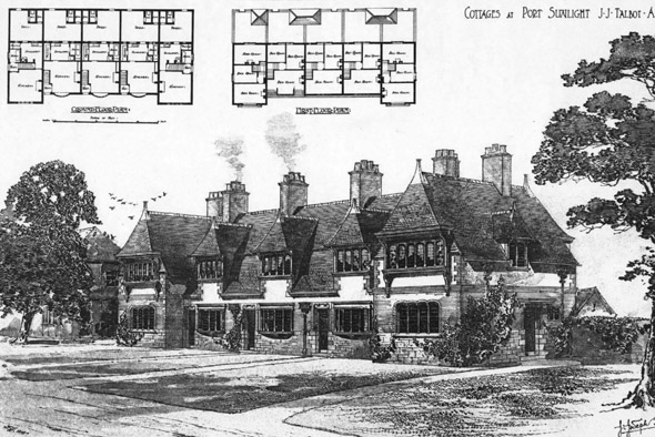 1902 &#8211; Cottages, Port Sunlight, Cheshire