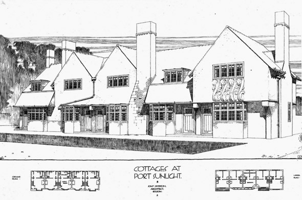 1899 – Cottages, Port Sunlight, Cheshire