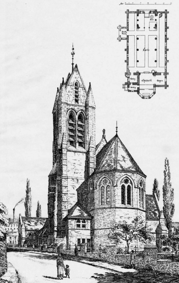 1886 &#8211; St.John&#8217;s Free &#038; Open Church, Macclesfield, Cheshire