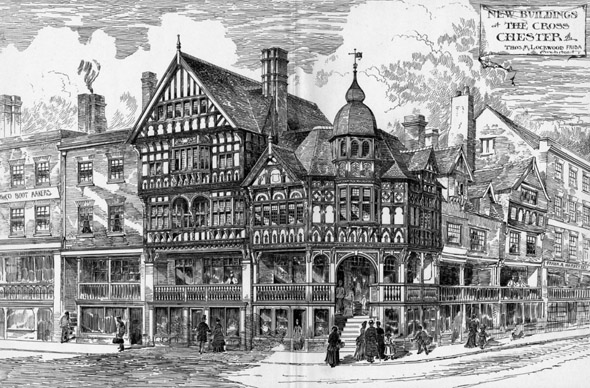 1888 – New Buildings at The Cross, Chester, Cheshire
