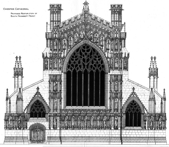 1885 &#8211; Restoration of Chester Cathedral, Cheshire