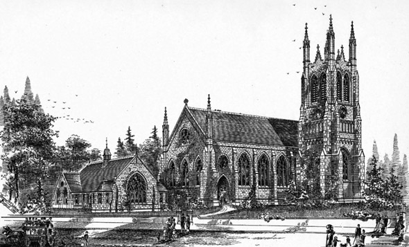 1888 – Congregational Church & School, Oxton Rd., Birkenhead, Cheshire