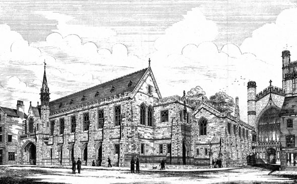 1873 &#8211; Proposed New Buildings, Kings School, Chester, Cheshire