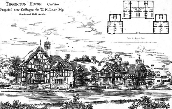 1893 &#8211; Cottages at Thornton Hough, Cheshire