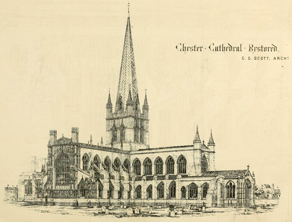 1869 – Restoration of Chester Cathedral, Cheshire