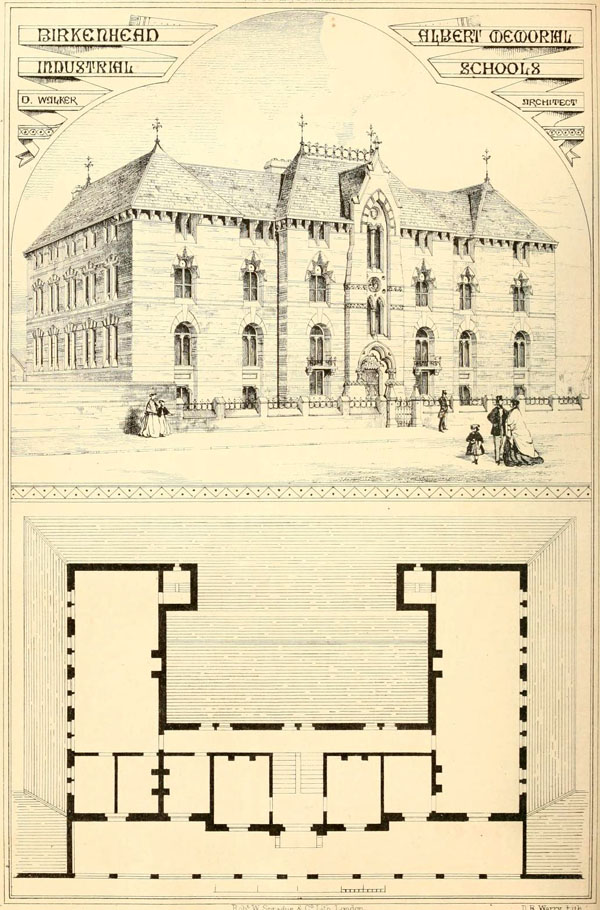 1867 &#8211; Albert Memorial Industrial Schools, Birkenhead, Cheshire