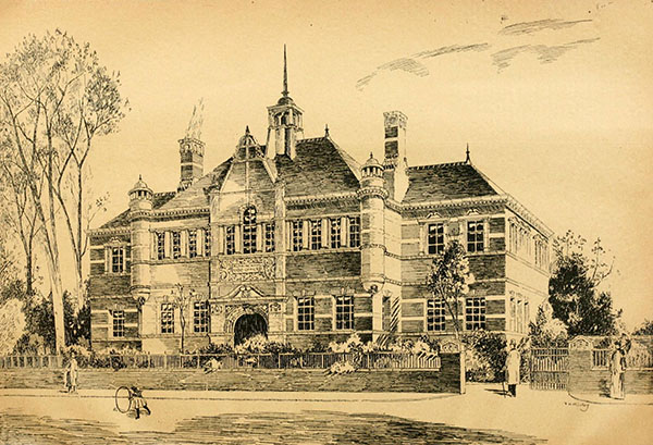 1898 – Design for Town Hall, Altrincham, Cheshire