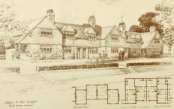 1898 – Cottages, Port Sunlight, Cheshire