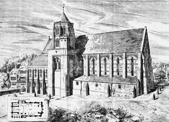 1886 – Church of St Elwyn's, Hayle, Cornwall