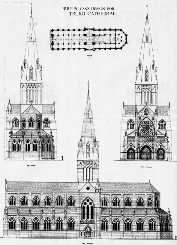 1878 – Proposed Cathedral at Truro, Cornwall