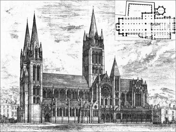 1880 – Truro Cathedral, Cornwall