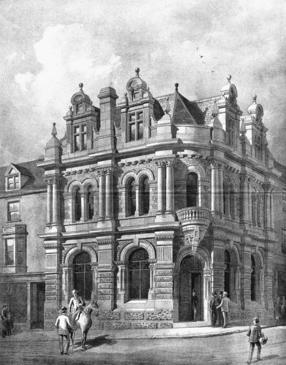1888 &#8211; West Cornwall Bank, Truro, Cornwall