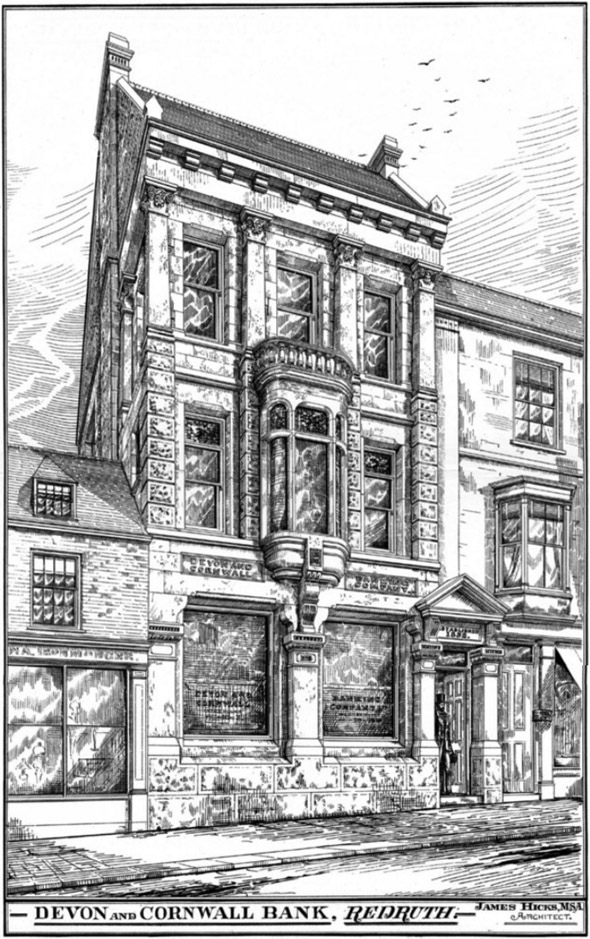 1888 – Devon & Cornwall Bank, Redruth, Cornwall
