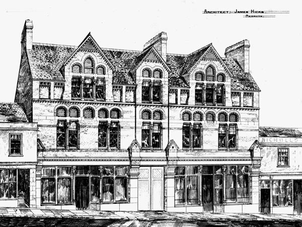 1872 &#8211; Shops in Camborne, Cornwall