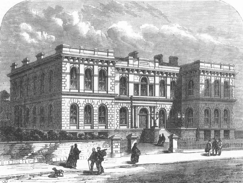 1867 &#8211; New Public buildings at Penzance, Cornwall