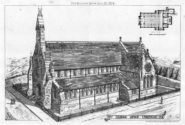 1874 – New Catholic Church, Workington, Cumberland