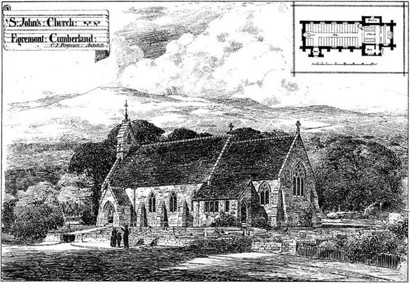 1878 &#8211; St. John&#8217;s Church, Egremont, Cumberland