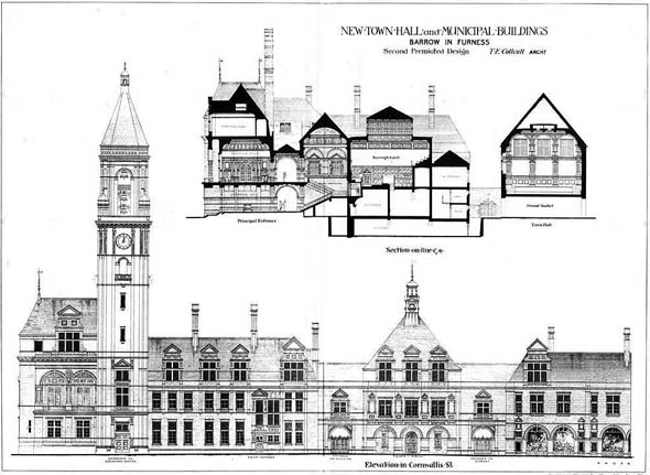 1878 &#8211; New Town Hall &#038; Municipal Buildings, Barrow in Furness, Cumberland