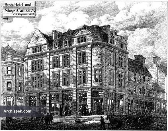 1878 – Bush Hotel & Shops, Carlisle, Cumberland
