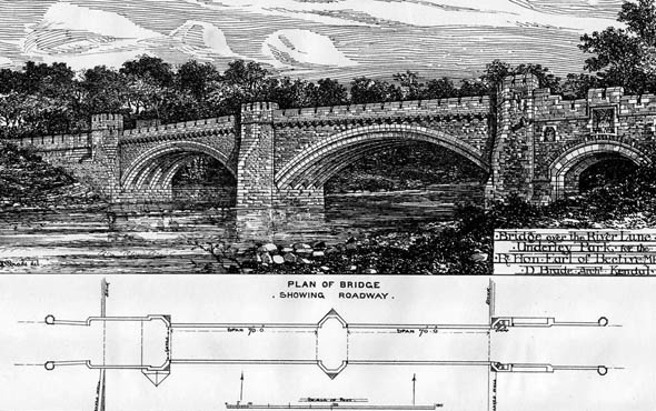 1879 &#8211; Bridge over the River Lune, Underley Park, Cumbria