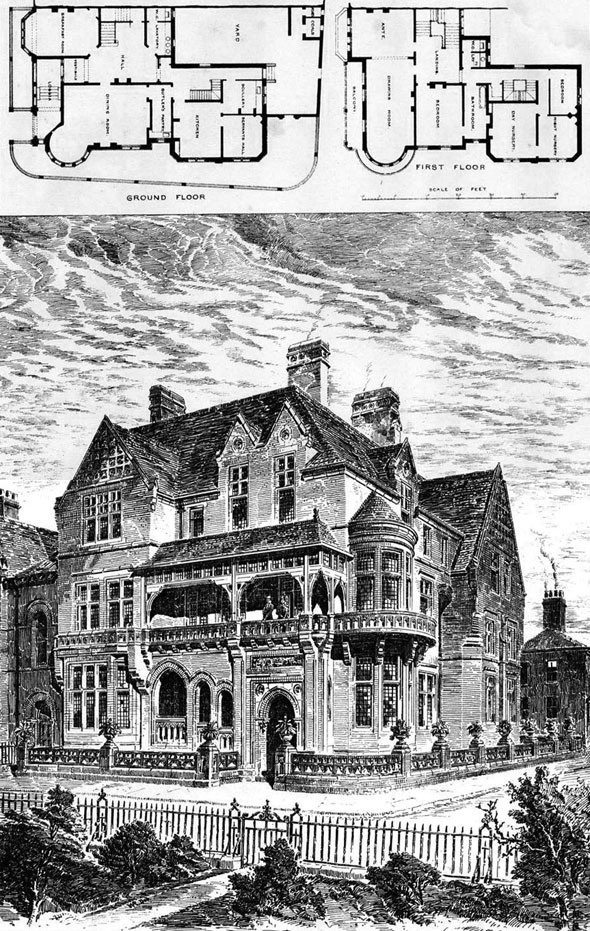 1885 – Residence at Chatsworth Square, Carlisle, Cumbria