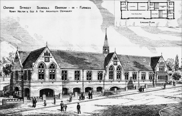 1886 &#8211; Oxford Street Schools, Barrow in Furness, Cumbria