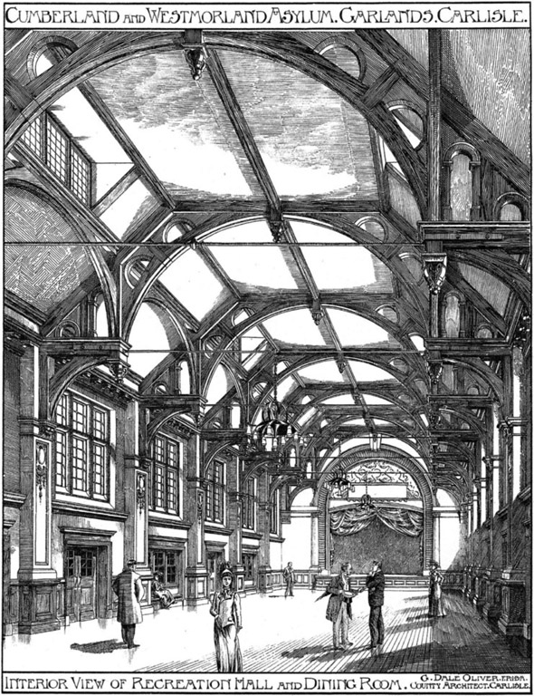 1906 – Cumberland & Westmorland Asylum, Garlands, Carlisle, Cumbria