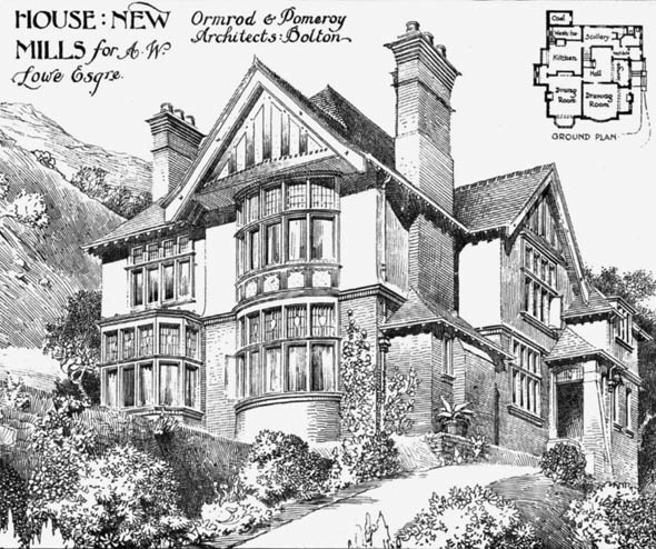 1905 &#8211; House, New Mills, Derbyshire