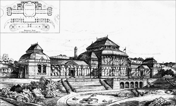 1883 &#8211; Matlock Bath Pavilion &#038; Gardens, Derbyshire