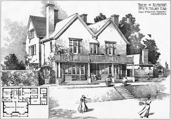 1901 &#8211; House at Alfreton, Derbyshire