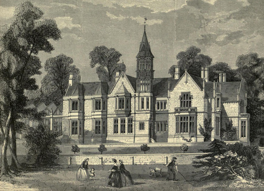 1858 &#8211; Burton Closes Hall, Bakewell, Derbyshire
