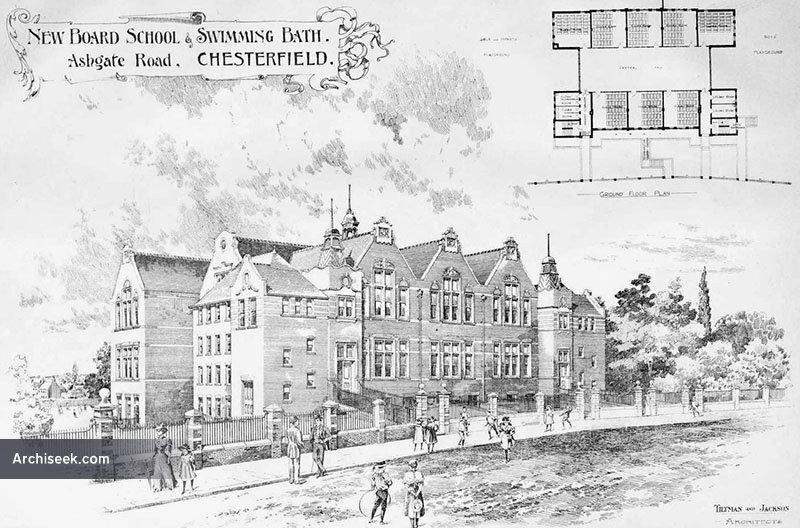 1898 – School & Swimming Baths, Chesterfield, Derbyshire