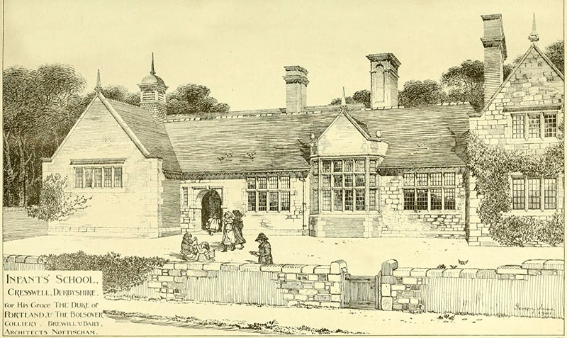 1901 – Infants School, Cresswell, Derbyshire