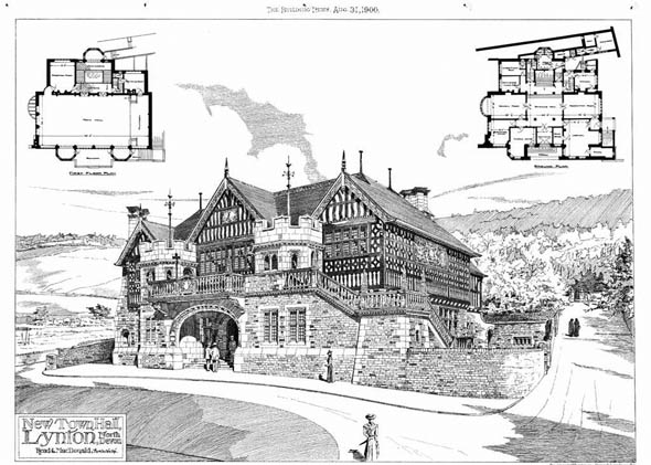 1900 &#8211; New Town Hall, Lynton, Devon