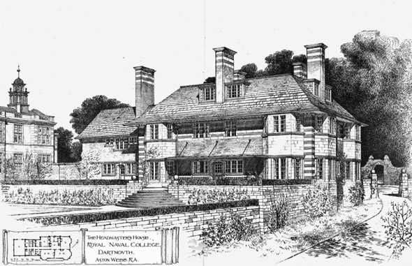 1905 &#8211; Headmasters House, Royal Naval College, Dartmouth, Devon