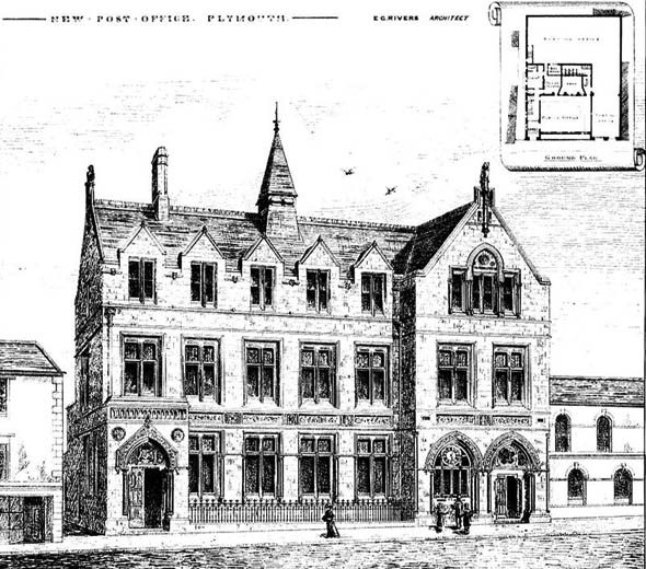 1885 &#8211; New Post Office, Plymouth, Devon