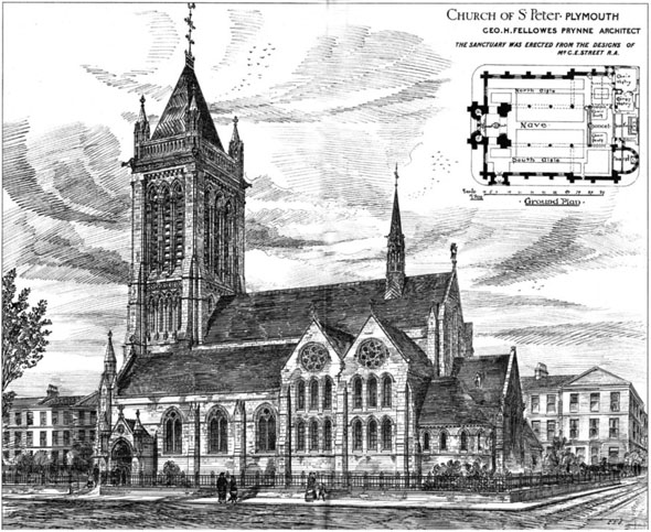1880 – Church of St. Peter, Plymouth, Devon