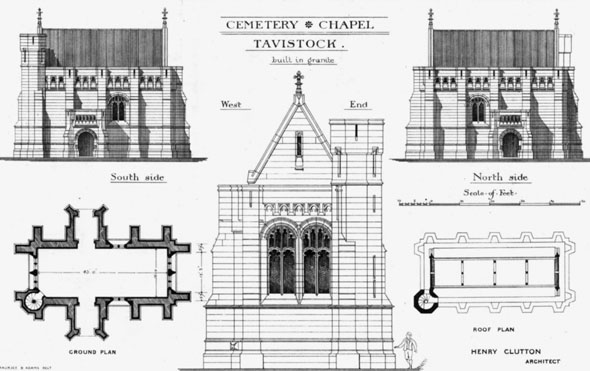 1880 &#8211; Cemetery Chapel, Tavistock, Devon