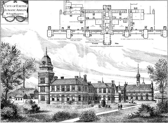 1886 – City of Exeter Lunatic Asylum, Devon