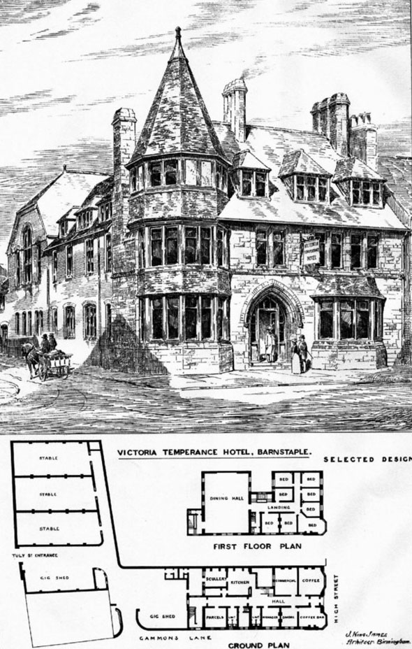 1887 &#8211; Victoria Temperance Hotel, Barnstable, Devon