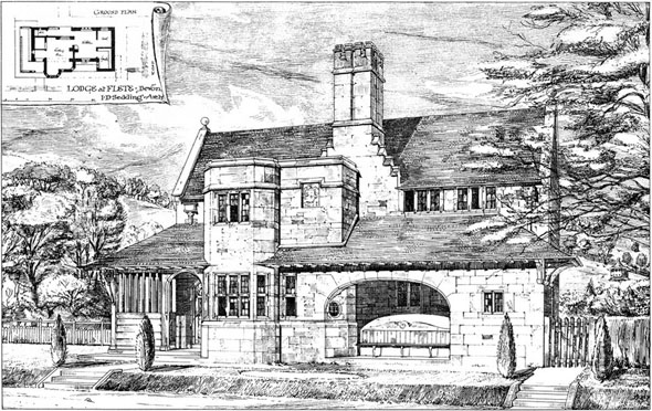 1887 &#8211; Lodge at Flete, Devon