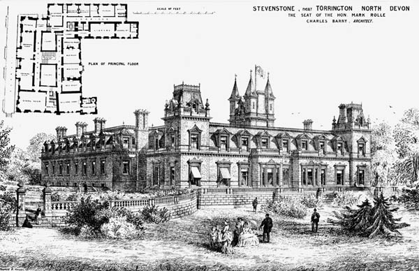 1872 – Stevenstone House, Torrington,  Devon