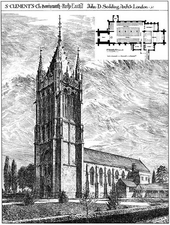 1876 – St. Clement's Church, Bournemouth, Dorset