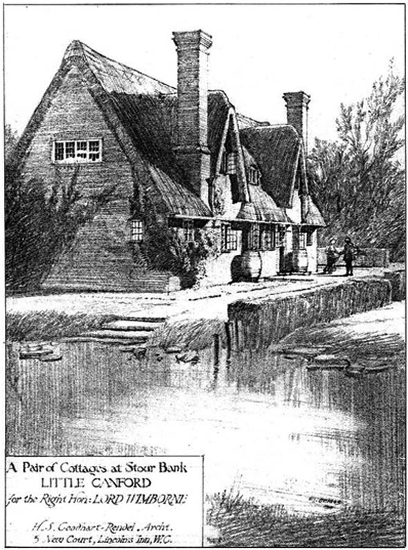 1910 – Pair of Cottages, Little Canford, Dorset