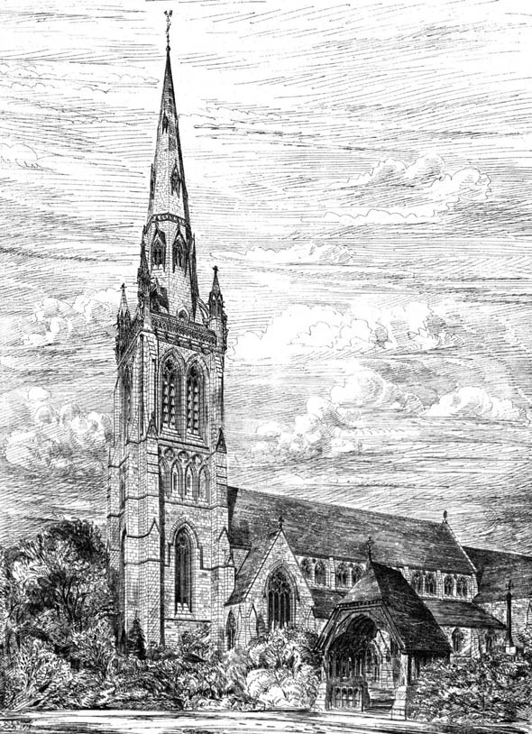 1879 – St Peters Church, Bournemouth, Dorset