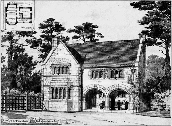 1892 &#8211; Lodge at Compton, Sherbourne, Dorset