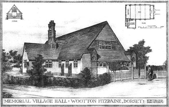 1908 &#8211; Memorial Village Hall, Wootton Fitzpaine, Dorset