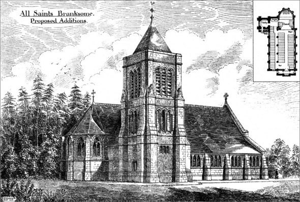 1880 – All Saints Church, Branksome, Poole, Dorset