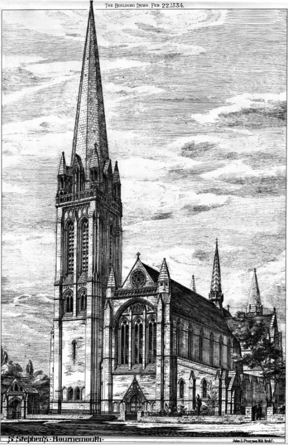 1884 &#8211; Church of St. Stephen, Bournemouth, Dorset