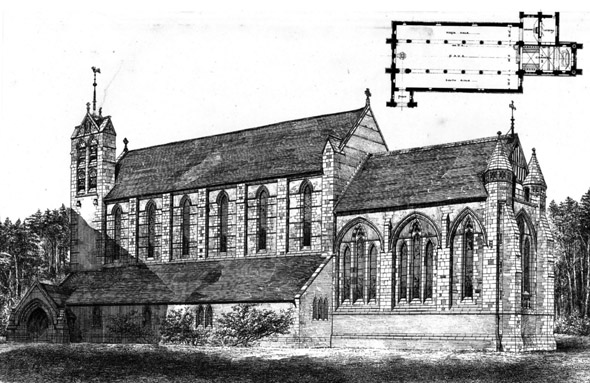 1860 &#8211; St. Michael&#8217;s Church, Bournemouth, Dorset